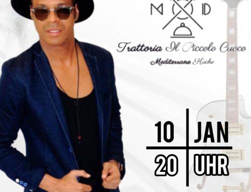 Dinner & Musik  in der Trattoria IL PICCOLO CUOCO am 10. Januar 2020
